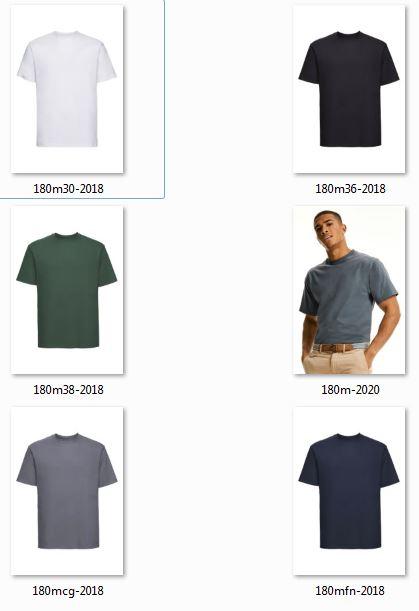 T-paita Russel 180 kaikkivarit